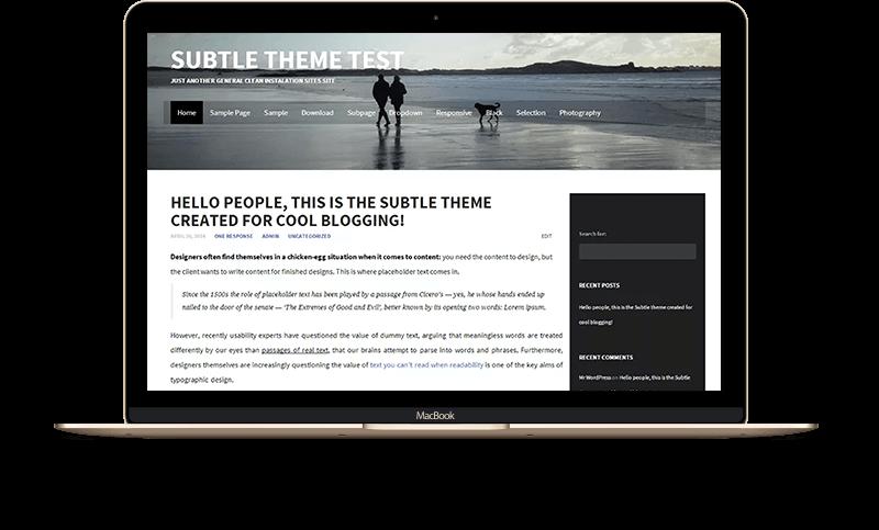 WordPress Theme - Subtile
