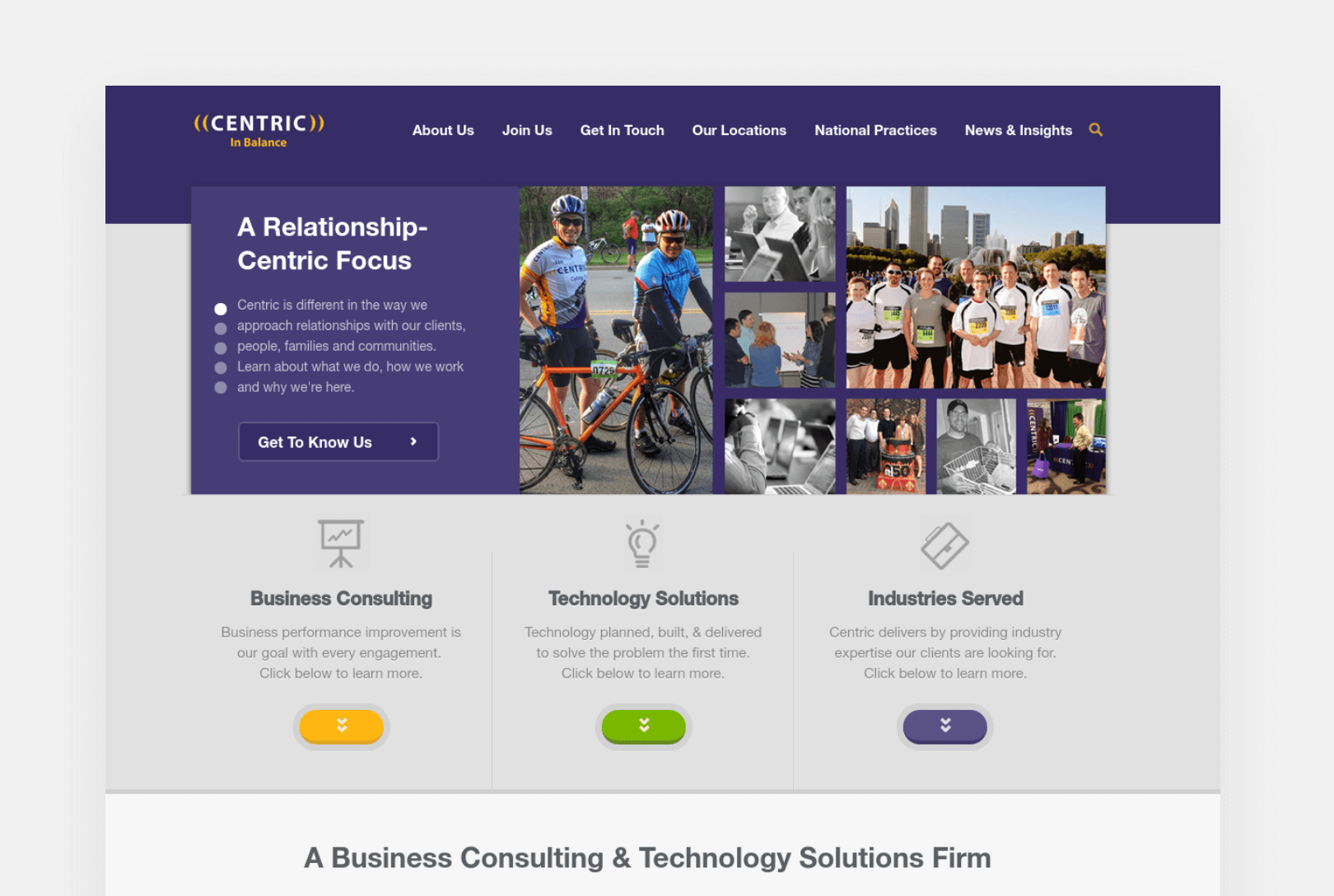 Centric Consulting Home Page screenshot