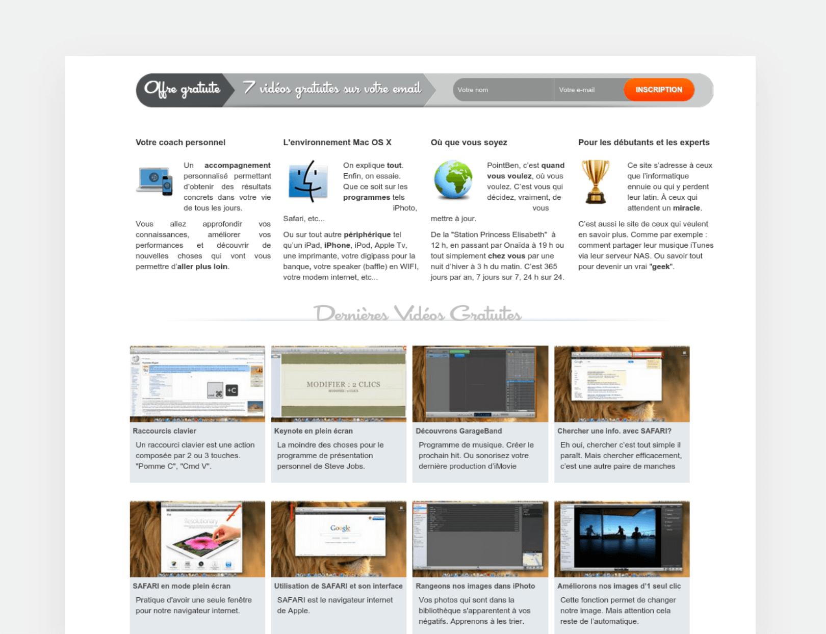 Point Ben page screenshot