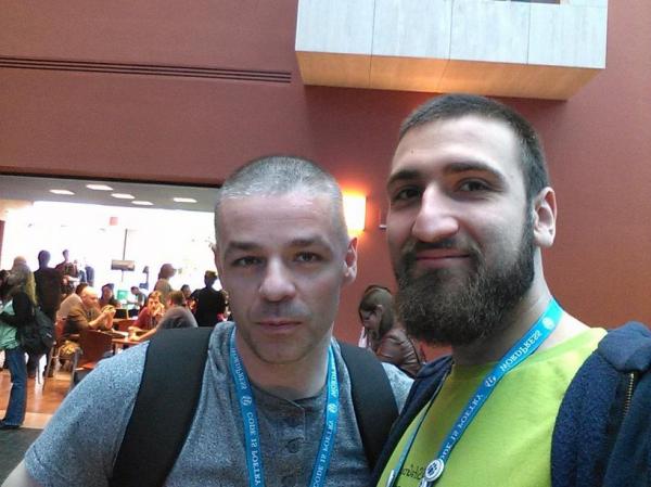 Emil Uzelac and Mario Peshev at WordCamp San Francisco