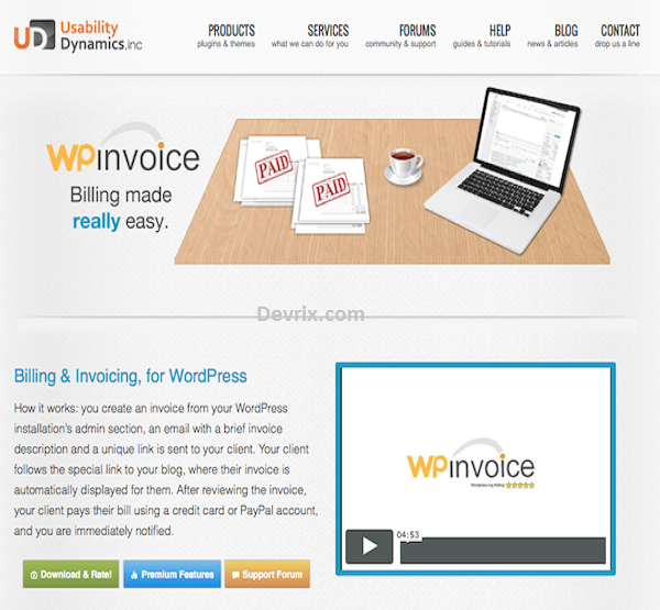 Invoice Your Clients Using WordPress Plugins - DevriX