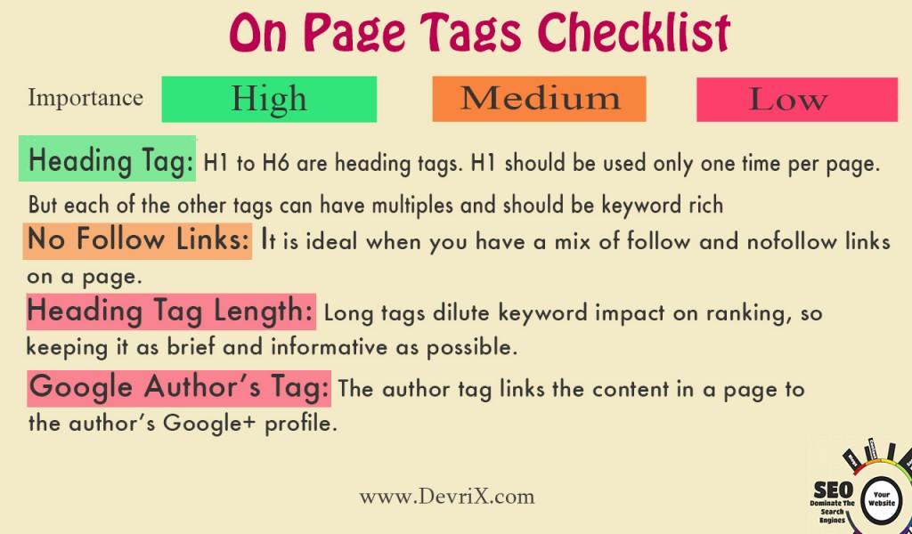 Onpage tags