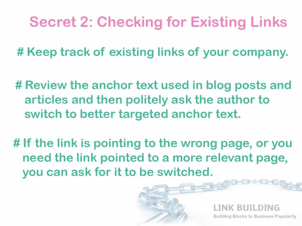existing links