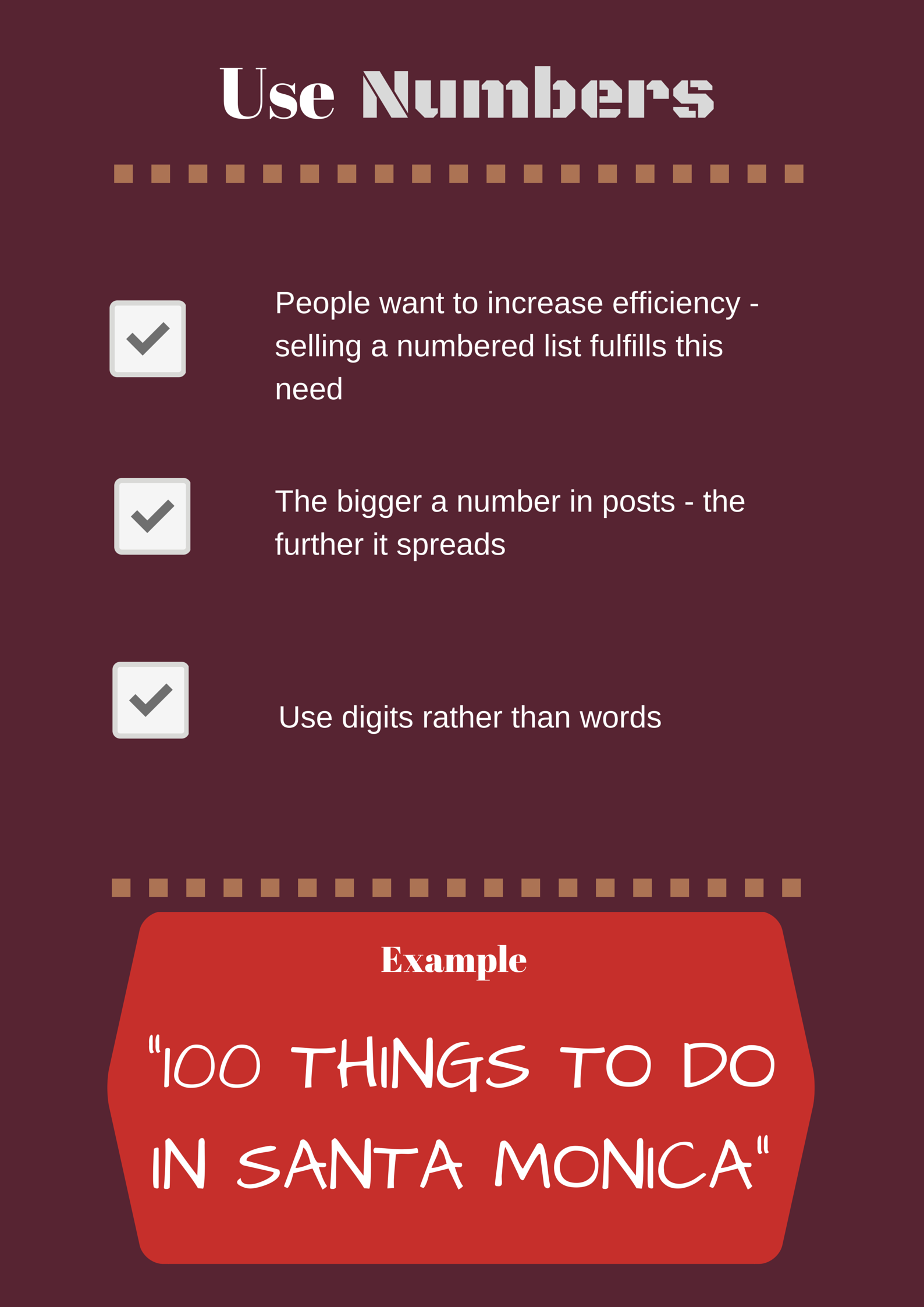 Use Numbers