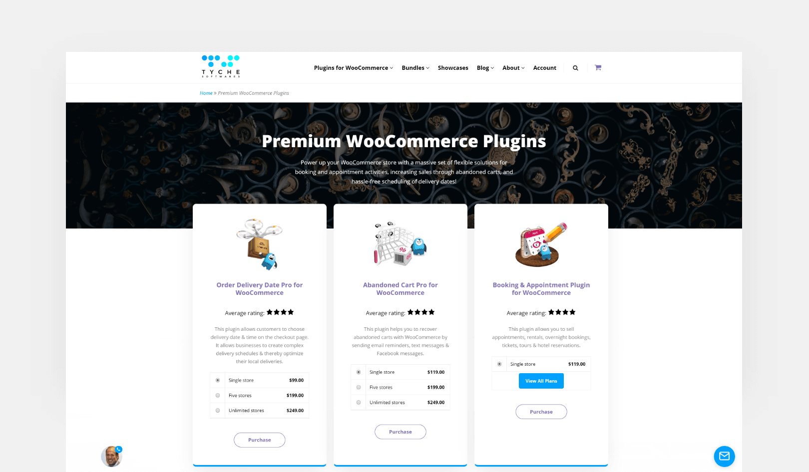 Premium WooCommerce Plugins Page Screenshot