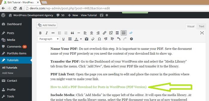 wordpress download pdf instead of open