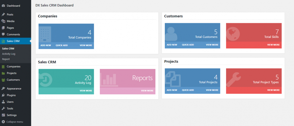 That's the unified Sales dashboard you'll use