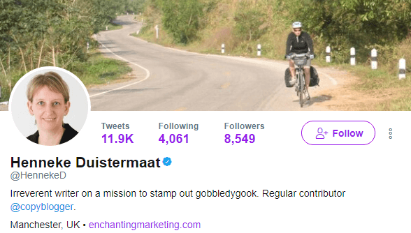 Henneke Duistermaat's Twitter profile
