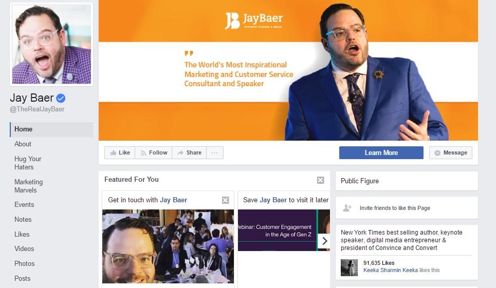 Jay Baer facebook page