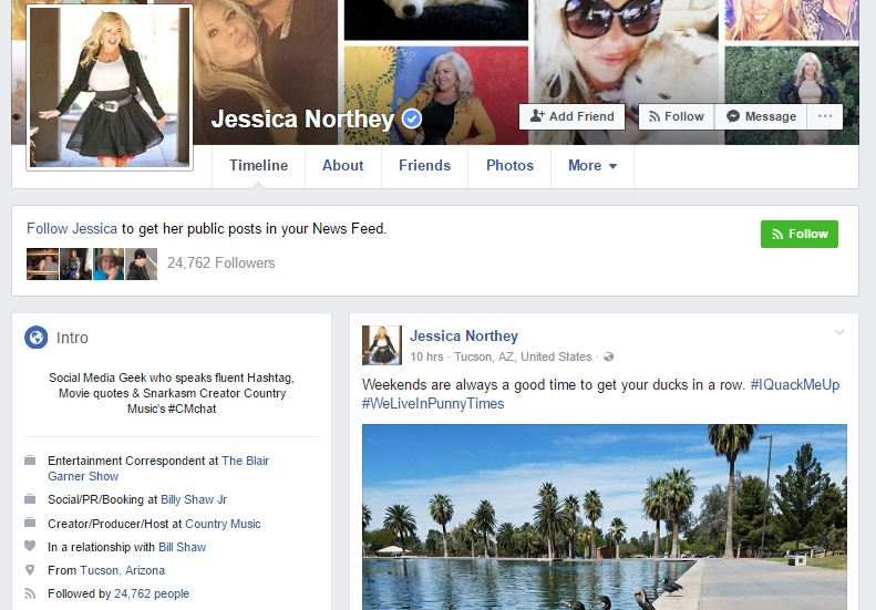 Jessica Northey facebook page