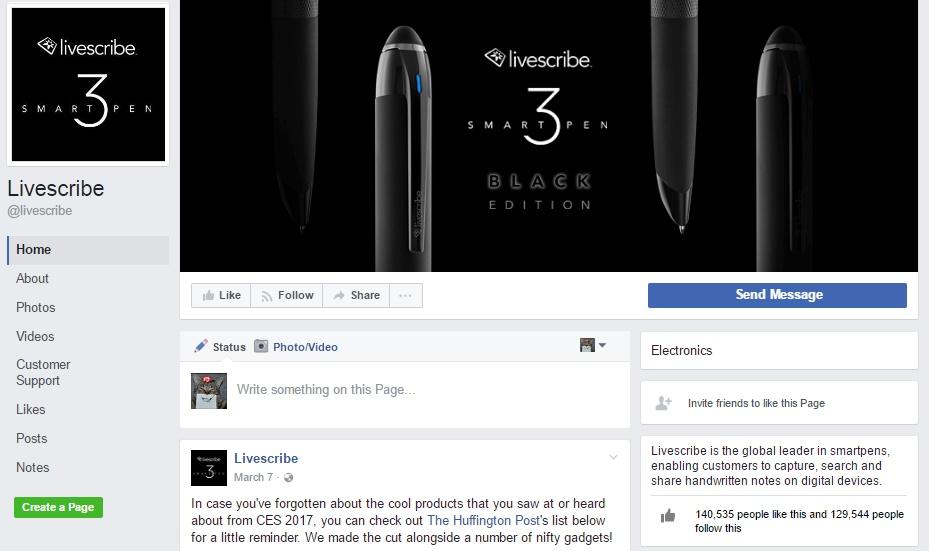 livescribe facebook page