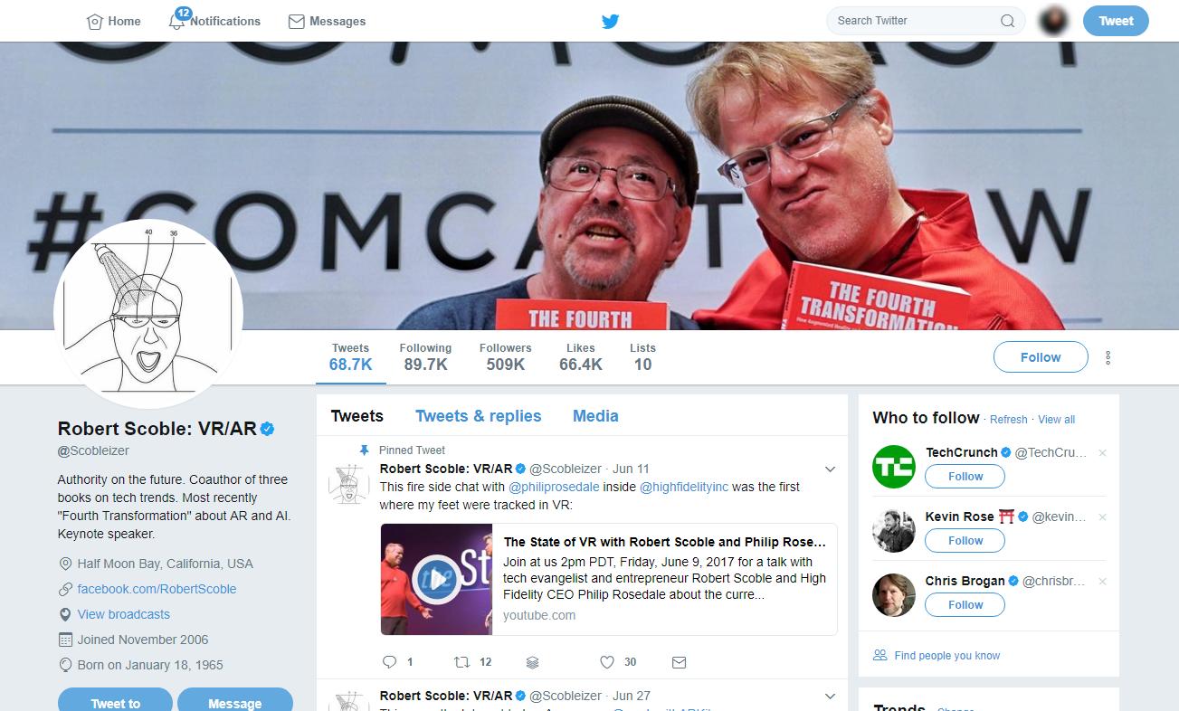 Robert Scoble Twitter Profile