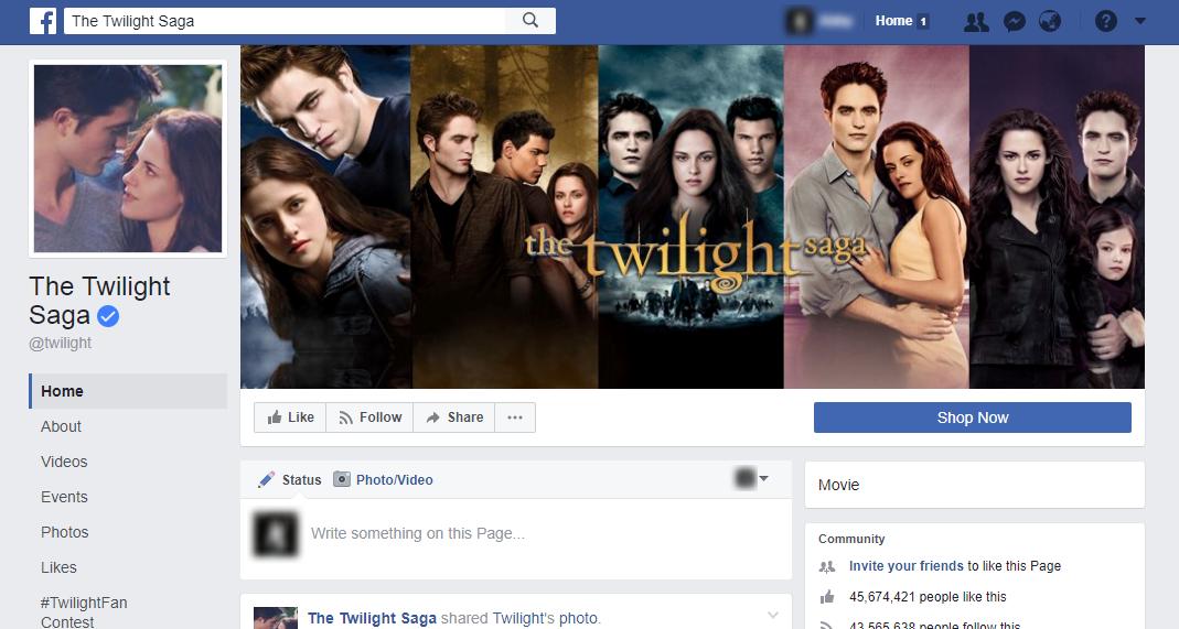 The Twilight Saga Facebook Page