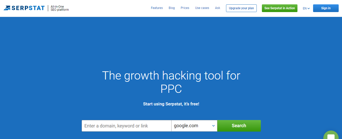 Serpstat.com Keyword Research Tool for SEO/PPC