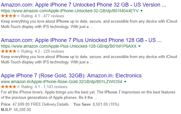 amazon rich snippets data example