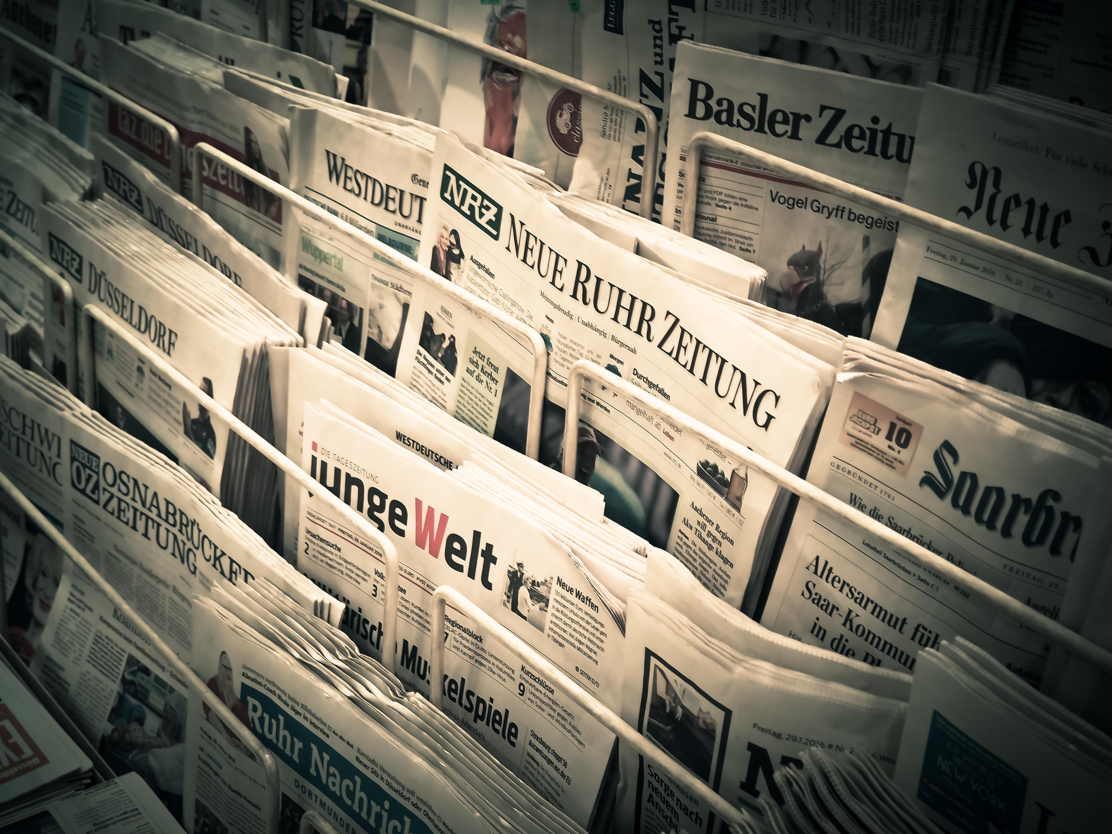 newspaper rack