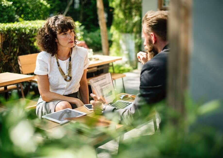 business partners having conversation