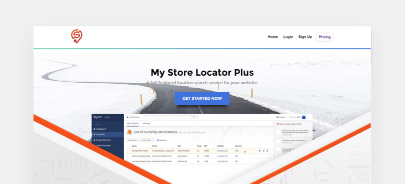 My Store Locator Plus list of currently set locations screenshot