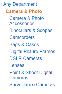 Camera and photo category