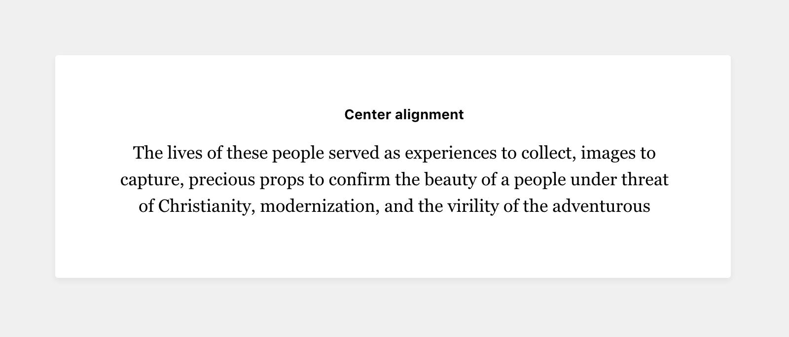 center-alignment