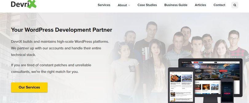 DevriX home page