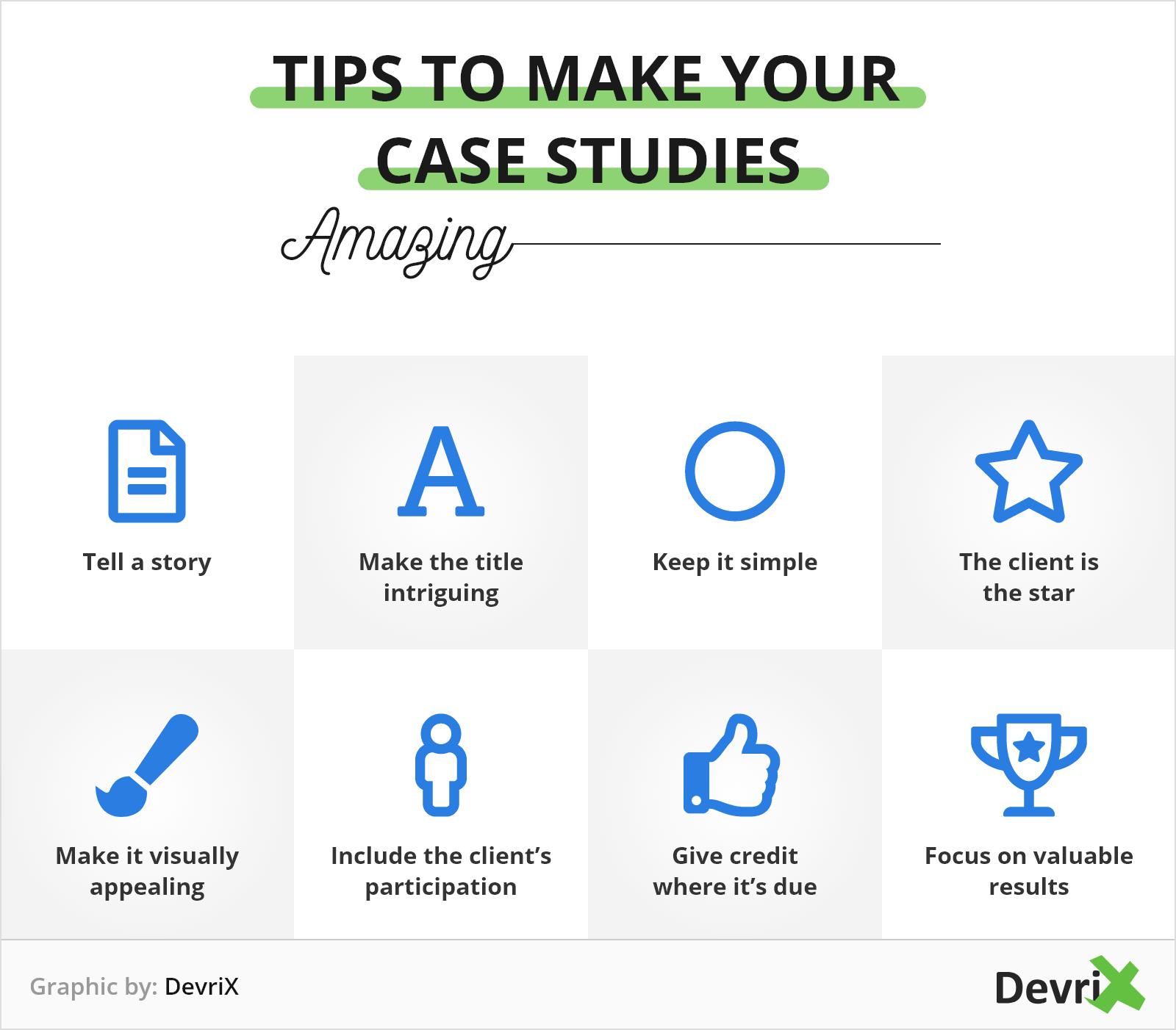 tips to make case studies
