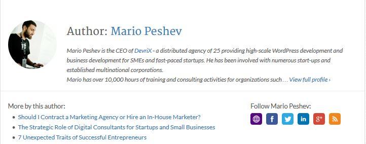 Mario Peshev Author Bio