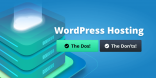 dos and don't wordpress hosting