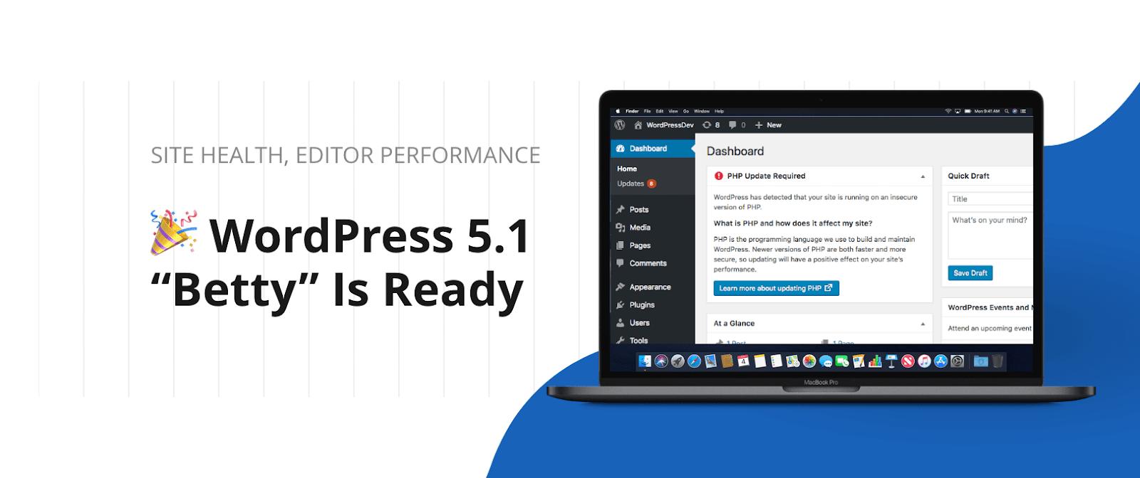 WordPress 5.1 Betty Is Ready