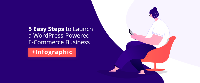 5 Easy Steps to Launch a WordPress-Powered E-Commerce Business +Infographic