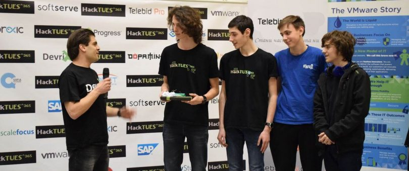 HackTUES 365 special award from DevriX