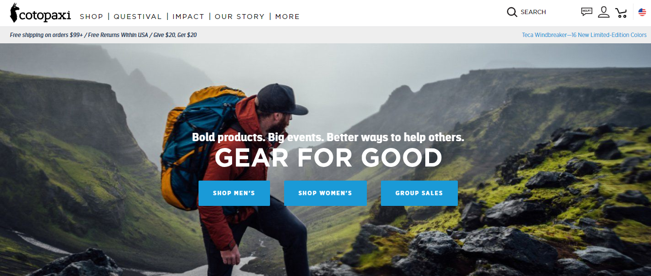 Cotopaxi About Us page