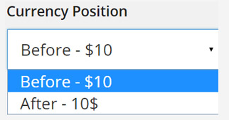 Currency settings - EDD