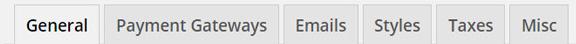 EDD settings tabs
