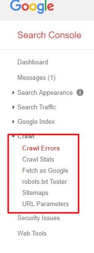 Google Search Console Crawl Errors