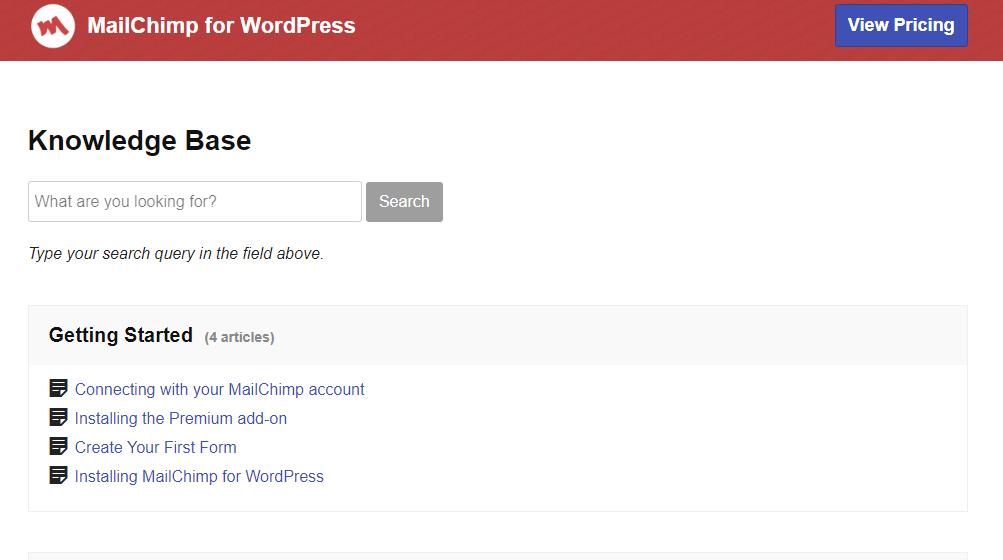 MailChimp for WordPress Documentation