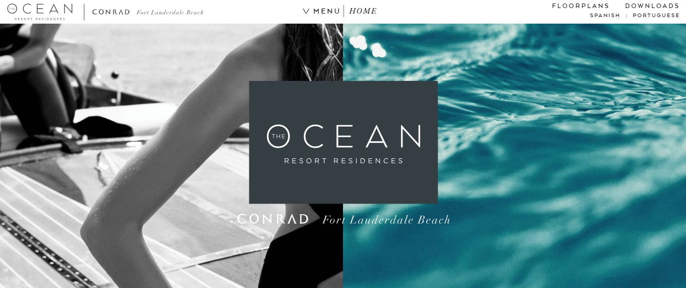 Ocean Resort Residences Split Screen Layout