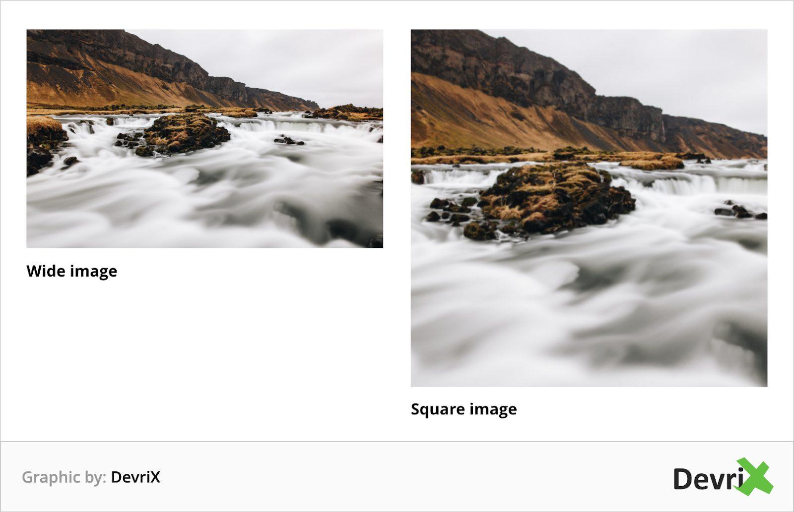 wide image vs square image
