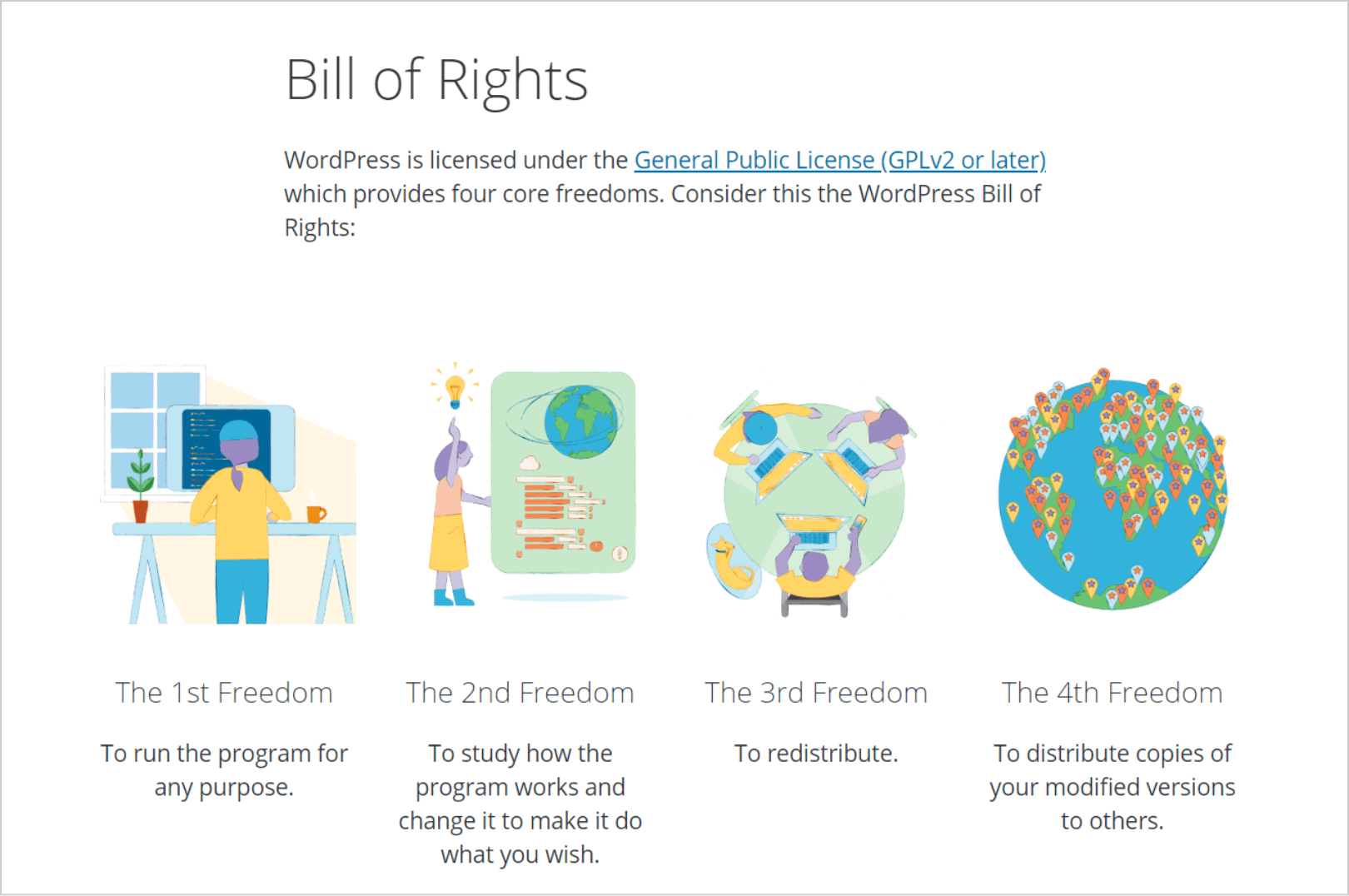 Bill of Rights on WordPress.org