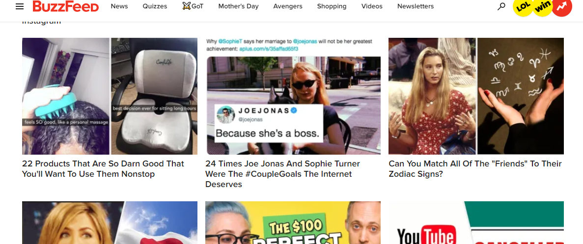 BuzzFeed content discovery networks