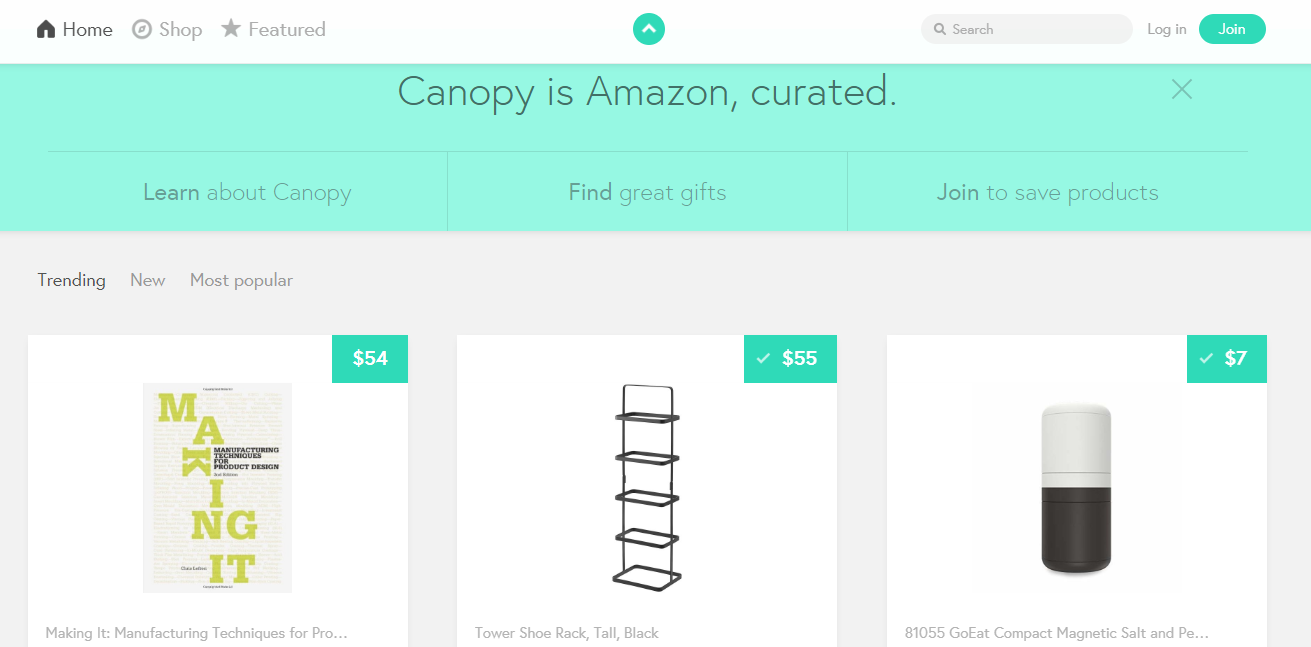 Canopy Amazon-affiliate store