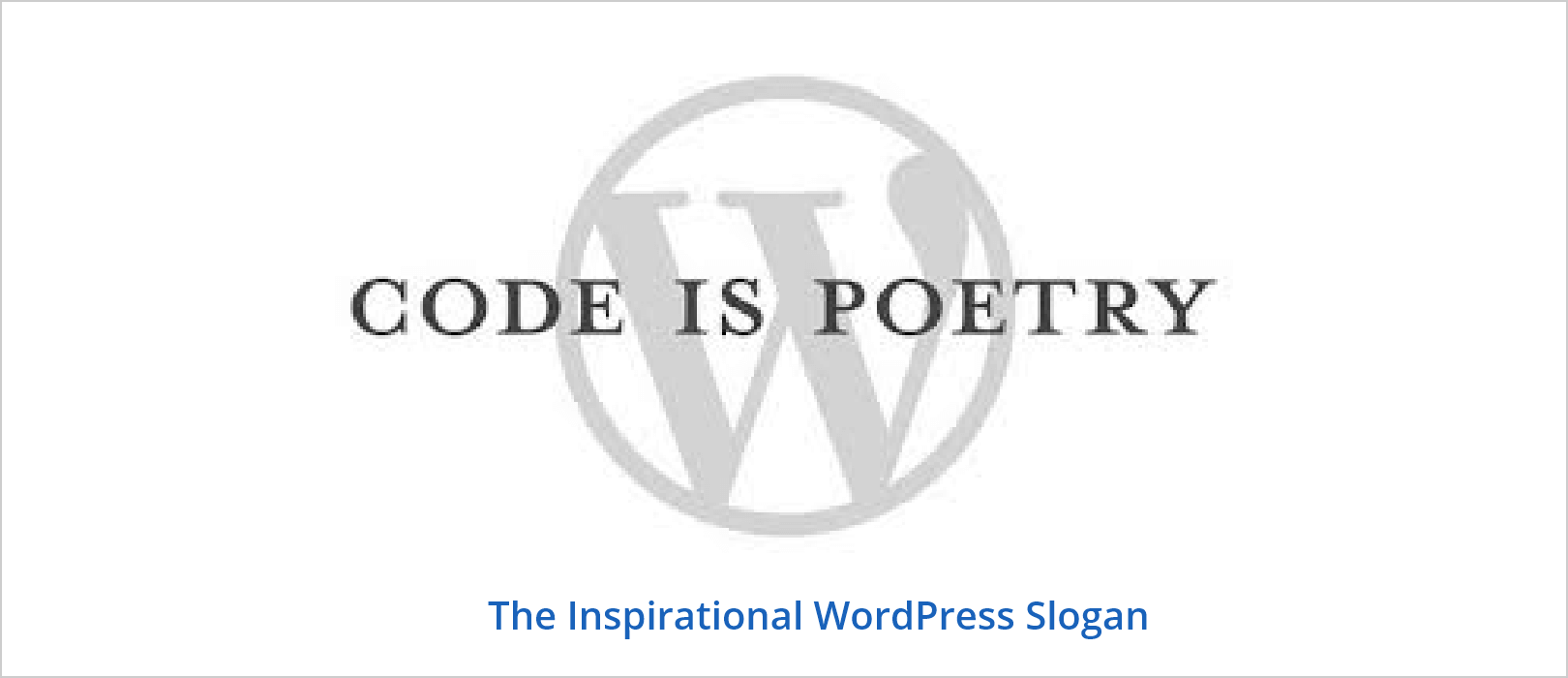 Code is poetry slogan
