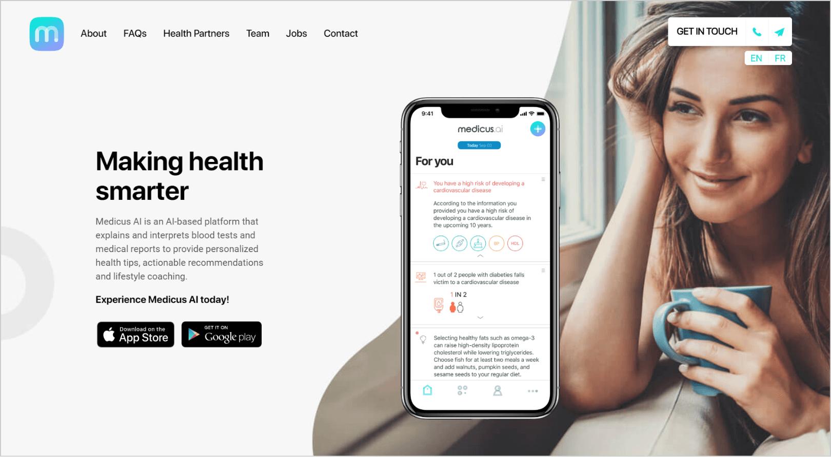Medicus AI health platform and app startup