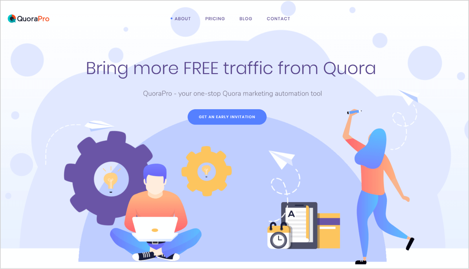 QuoraPro software for automation marketing activity startup