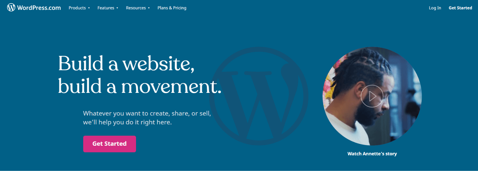 WordPress com Build a website build a movement