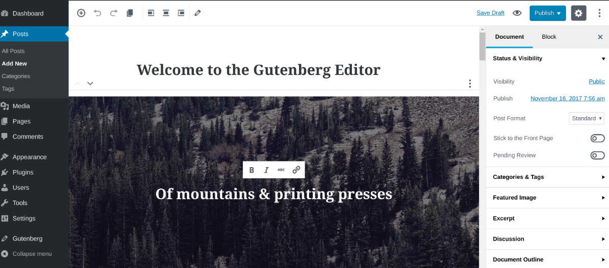 full-width feature