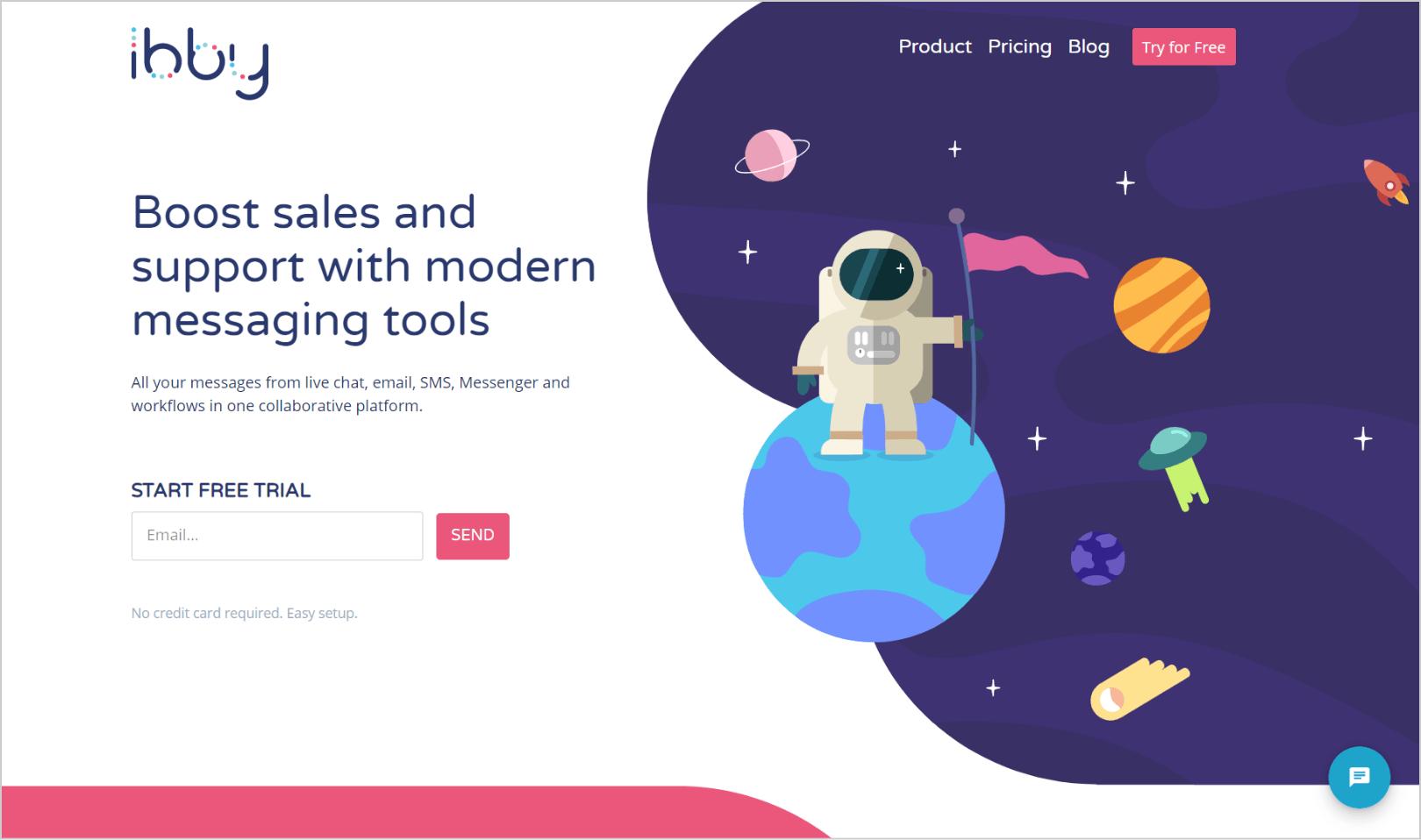 Ibby messaging platform startup