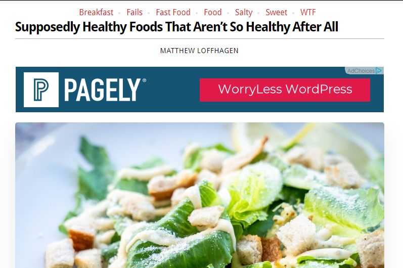 not so healthy foods blog post by Obsev