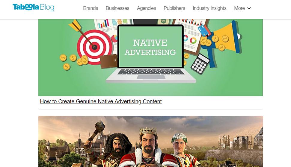 sponsored content taboola blog