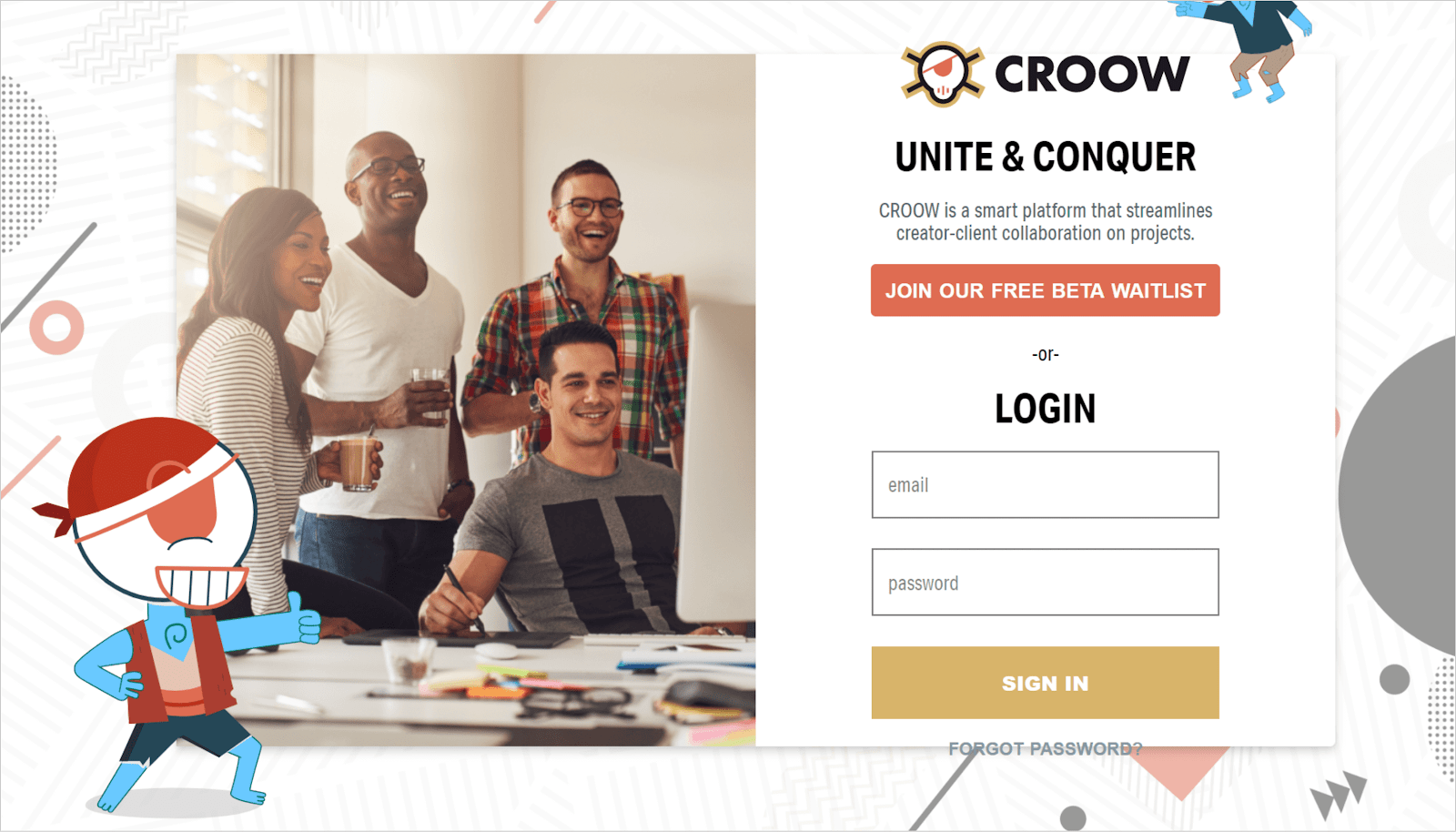 CROOW- a Smart Platform That Streamlines Creator-Client Collaboration